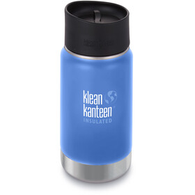 Klean Kanteen Wide Vacuum Insulated Drinkfles Café Cap 2.0 355ml blauw